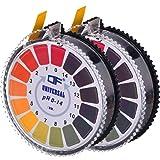 Jovitec Universal pH Test Paper Strips pH Test Strips Roll, pH Measure Full Range 0-14, 2 Rolls, 16.4 ft/Roll