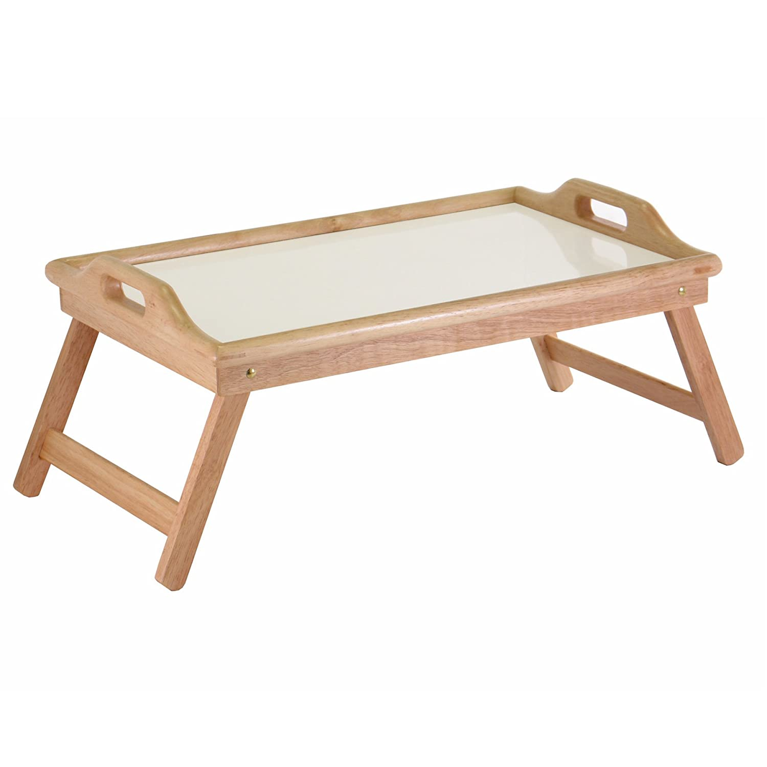 Superb img of Solid Wooden Bed Tray Serving Dishes Lap Desk Laptop Stand Home Office  with #4F3A11 color and 1500x1500 pixels
