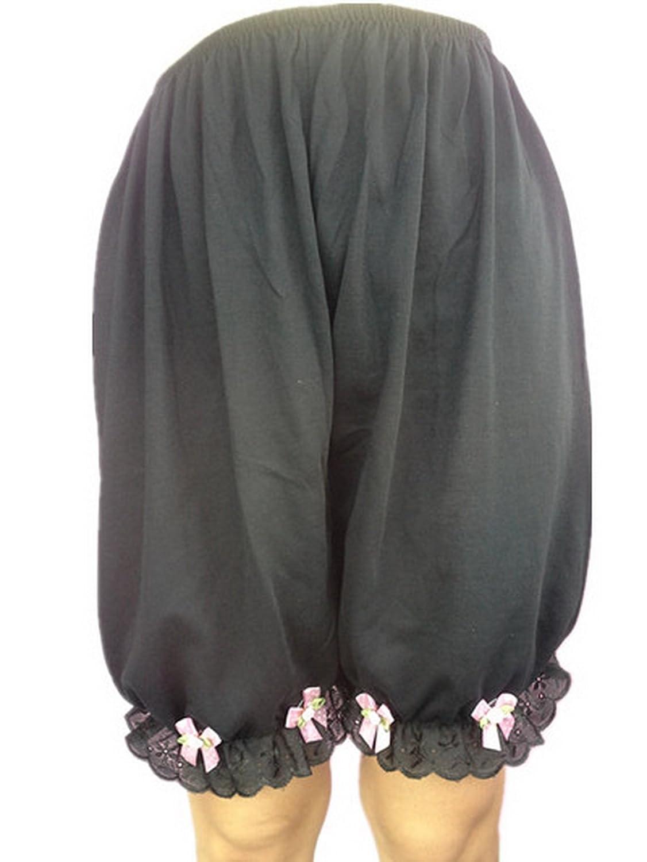 Frauen Handgefertigt Halb Slips UL1CBBK Black Half Slips Cotton Women Pettipants Lace günstig online kaufen