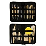 US Art Supply 26-Piece Pottery & Clay Sculpting Tool Sets with Canvas Cases