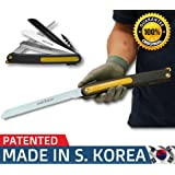 Pruning Folding Camping Saw is a Survival Heavy Duty Saw for Trim Rose Tree, Wood PVC Glass Bottles Tile a Universal Multi-Blades Work as Hacksaw Bow Rip Chain Handsaws & Foldable Knife Sharpener (Color: Magic Folding Saw)