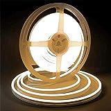 Warm White LED Light Strip, Lamomo 3000K Flexible White Neon Light Premium High Density 2835-16.4 Ft/5m, 600 LEDs, UL-Listed Upgrade Silicone LED Rope 12V DC Tape Light for Indoors/Outdoors Decor/DIY (Color: Warm White)