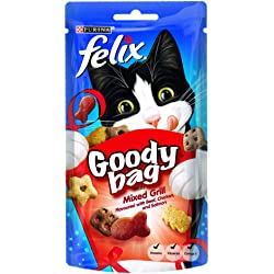Felix Goody Bag Mixed Grill Cat Treat 60 g (Pack of 8)