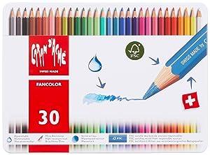 Caran d'Ache Fancolor Color Pencils, 30 Colors