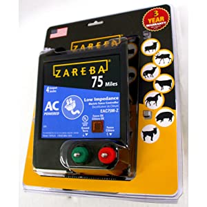 Zareba EAC75M-Z 75-Mile AC Low Impedance Electric Fence Charger