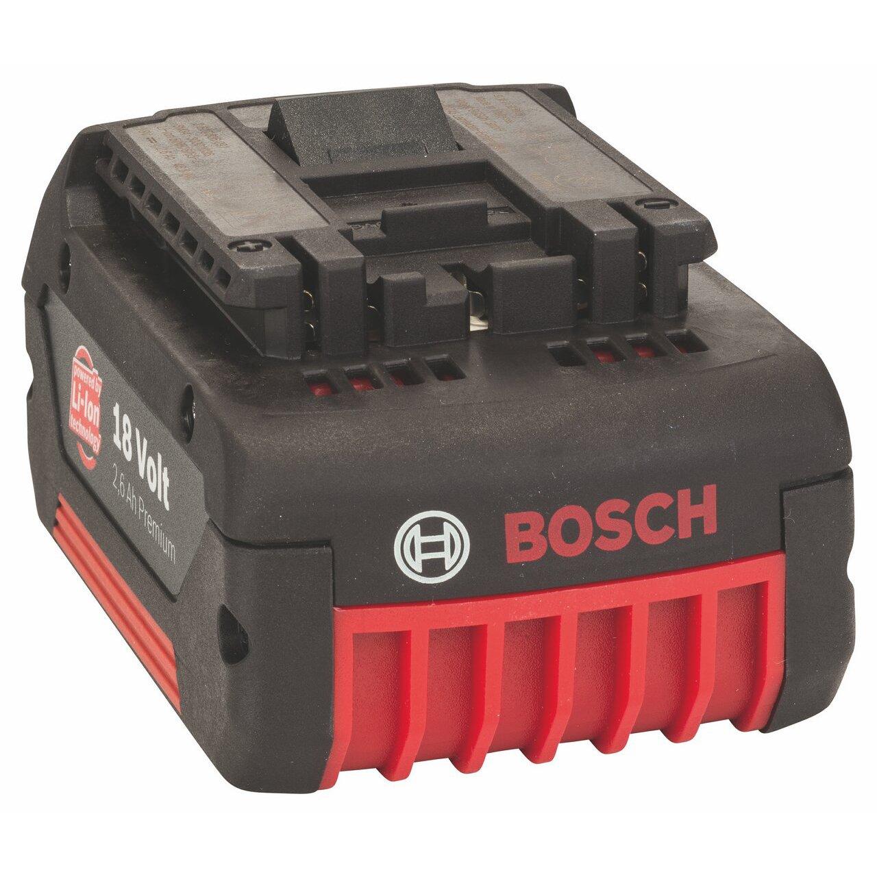 Bosch Professional 2607336092 Akku 18V LiIon 2,6Ah Einschubakku  BaumarktBewertungen und Beschreibung