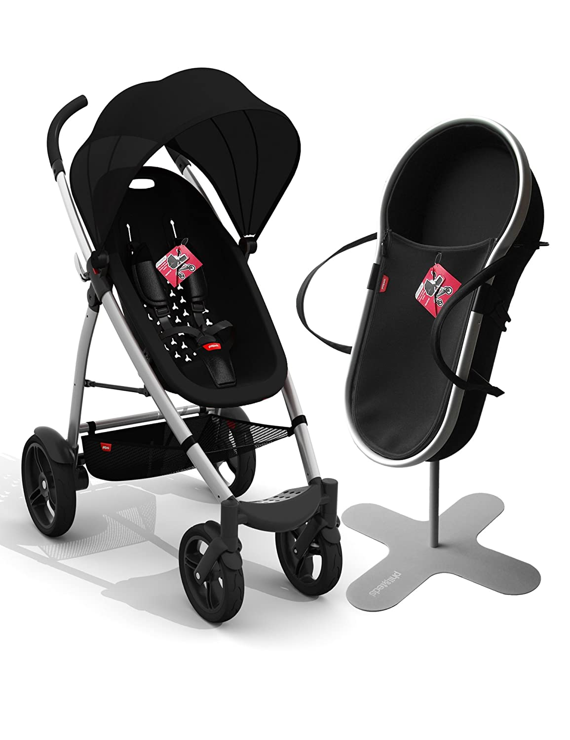phil&teds; Smart Buggy Bassinet and Stroller Bundle, Black