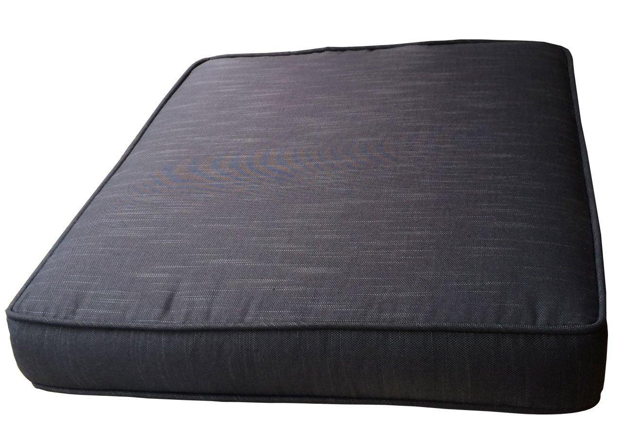 Sitzkissen 68x61,5x10cm Schwarz zu 2er Lounge Sofa