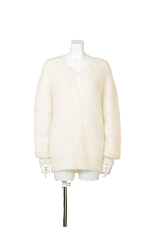 (フレイ アイディー)FRAY I.D アンゴラVネックプルオーバー FWNT154038 0003 IVR F : 服&ファッション小物通販 | Amazon.co.jp