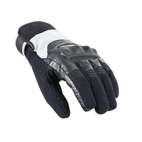 V Quattro Design V4G-GRIN15-BGRL Gants de Moto, Noir/ Gris, 9