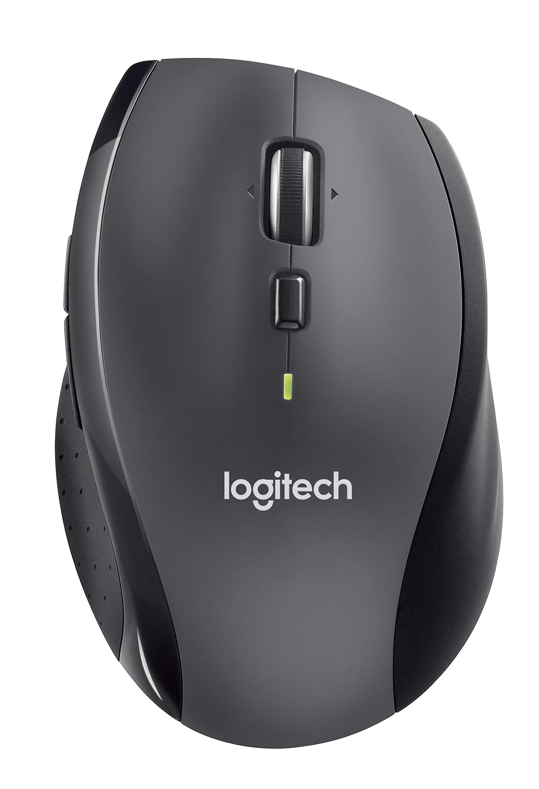 로지텍 M705 마라톤 무선 마우스 Logitech M705 Marathon Wireless Mouse – Long 3 Year Battery Life, Ergonomic Sculpted Right-hand Shape, Hyper-fast Scrolling and USB Unifying Receiver, for Computers and Laptops, Da