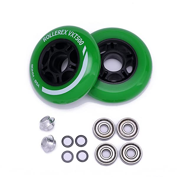 Inline Outdoor Skate Replacement Wheels with ABEC 608zz Bearings