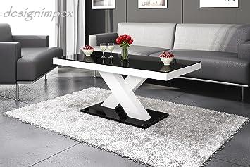 Design Couchtisch H-888 Schwarz / Weiß Hochglanz Highgloss Tisch Wohnzimmertisch