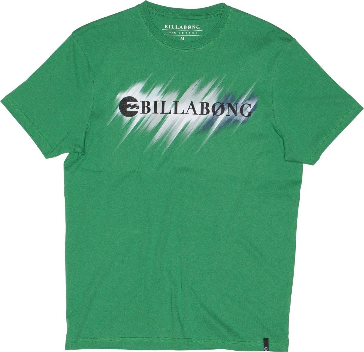Billabong Mens Neon Strikethrough Ss T Shirt Kelly Green M