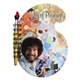 Surreal Entertainment Bob Ross Paint Palette Journal and Brush Pen - Licensed Collectible 80s Art Notepad - Novelty Book - Unique Gift for Birthdays, Holidays, House Warming Parties (Color: Multi-colored, Tamaño: One Size)