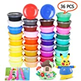 Air Dry Clay 36 Colors Modeling Clay No-Toxic Ultra Light Magic Clay Set with Tools Creative DIY Crafts Clay Dough, Best Gift for Kids (Color: 24 color air dry clay)