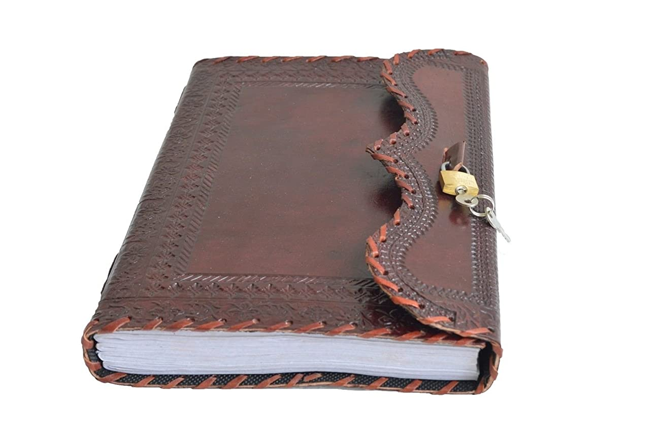 Genuine Leather Journal Vintage Antique Style Organizer Blank Notebook Secret Diary Daily Journal Personal Diary - Maroon 1