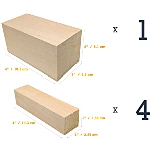 Basswood - Beginner's Premium Carving Blocks Kit - Best Wood
