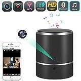 Bluetooth Music Player - QUANDU HD 1080P WiFi Hidden Camera Wireless Speaker Spy Cam Mini Nanny Cameras with Motion Detection Alarm and 180°Lens