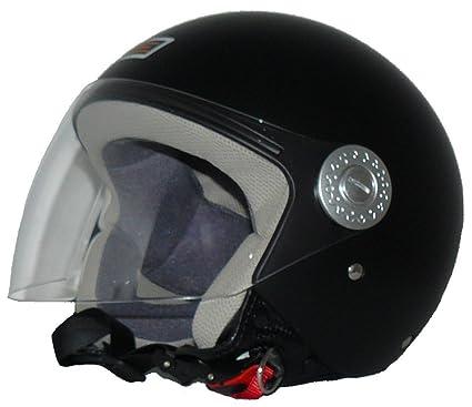 Protectwear dP - 601 v522 casque jet avec visière (noir mat)