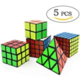 TSIANHUZY Speed Cube Puzzle Bundle Pack Set Cube Collection Cubes Awesome Cubes incl Pyramid Magic Triangle Twisty Puzzle for Intelligence Developmen