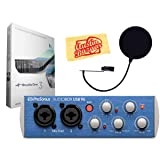 PreSonus AudioBox USB 2x2 Recording System Bundle with Pop Filter, Studio One Software Download Key, and Austin Bazaar Polishing Cloth (Color: Bundle w/ Pop Filter, Tamaño: Bundle w/ Pop Filter)