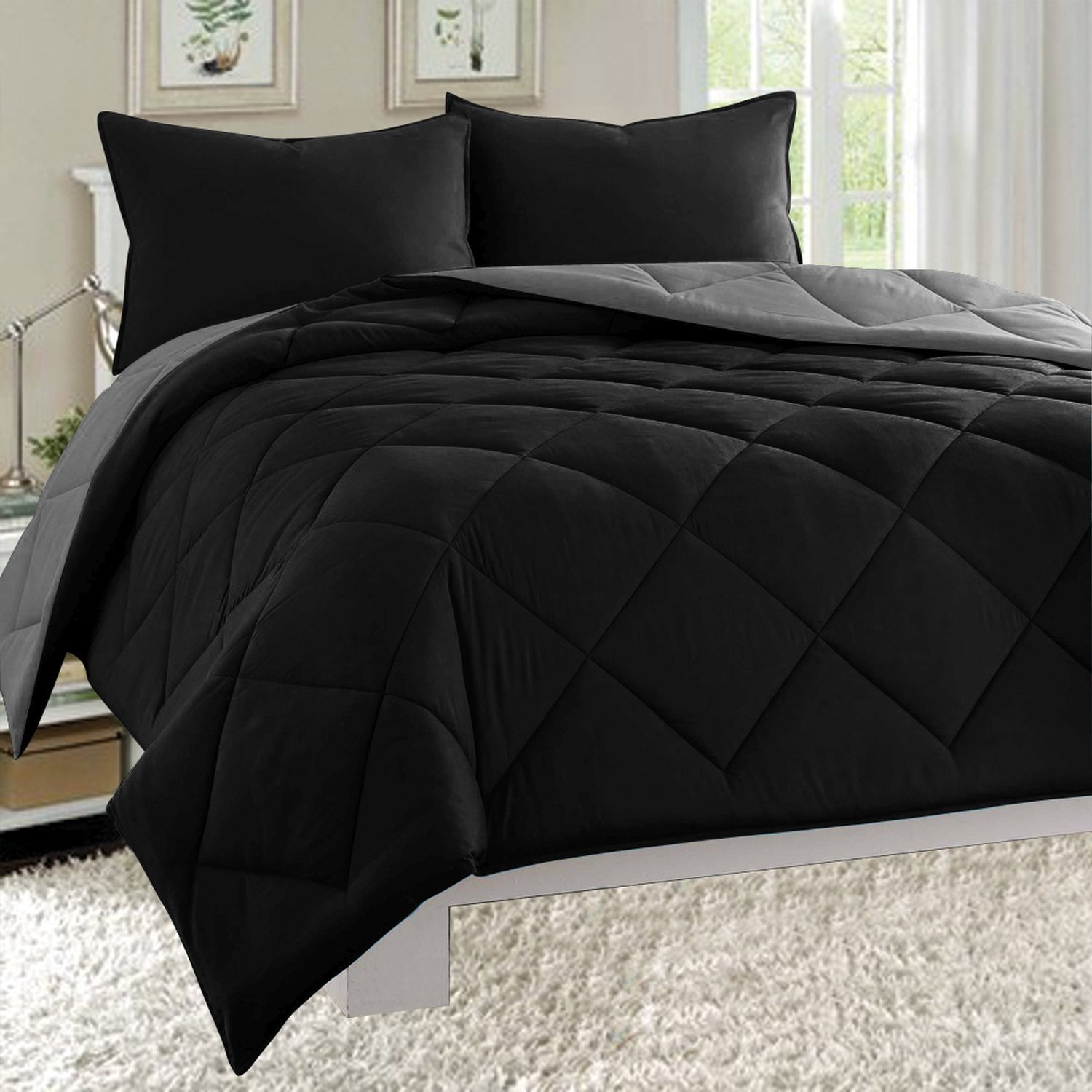 reversible comforter sets u2013 ease bedding with style