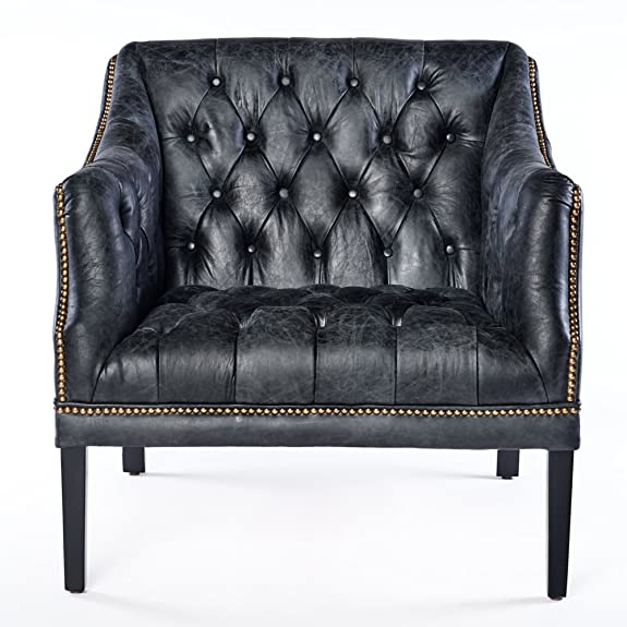 Chesterfield, 664, poltrona in vera pelle, stile vintage, aspetto antico, con finiture borchiate, ideale per club e lounge