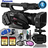Panasonic AG-DVX200 4K Handheld Camcorder & LCD Touchscreen + 32gb Memory Card Bundle + 3PC Filter Kit + Gaffer Tape + Cleaning Kit w/ (2 YR Warranty) (Color: Memory Card Kit)