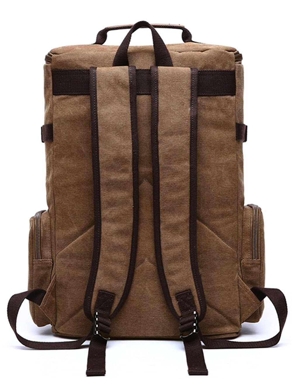 Aidonger Unisex Vintage Canvas Backpack Laptop Backpack 4