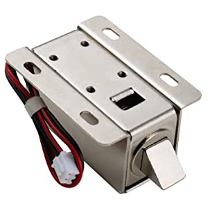 UHPPOTE DC12V File Display Cabinet Drawer Latch Assembly Solenoid Electric Lock