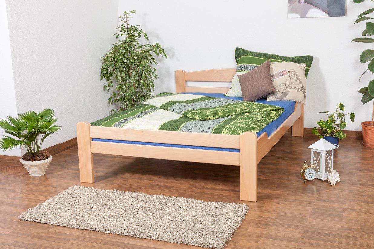 "Jugendbett ""Easy Sleep"" K4, 140 x 200 cm Buche Vollholz massiv Natur günstig bestellen"