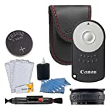 Canon RC-6 Wireless Camera Remote Control + Lens Band + Screen Protectors + Cleaning Pen + 3 Piece Cleaning Kit - for Canon Rebel SL1 T4i T5i T6i T7i T6s EOS 70D 80D 77D 6D 7D Mark II 5D Mark IV (Color: Clear)