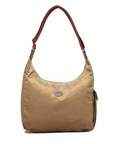 ... Online Discount Longchamp Le Pliage Tote Bags 1899 089 506Indigo \u0026middot; Longchamp Nylon Shoulder Hobo Handbag - Le Pliage (Beige)