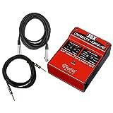 Radial JDX Direct Drive Guitar Amp Simulator DI w/ 2 Cables (Color: Red)