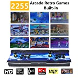 TAPDRA 2255 Classic Arcade Game Console Machine, 4 Players Pandoras Box 11 with 1280x720 Full HD Video Game Console with Joystick Support HDMI VGA Output (Color: Color 4, Tamaño: Pandora 11)