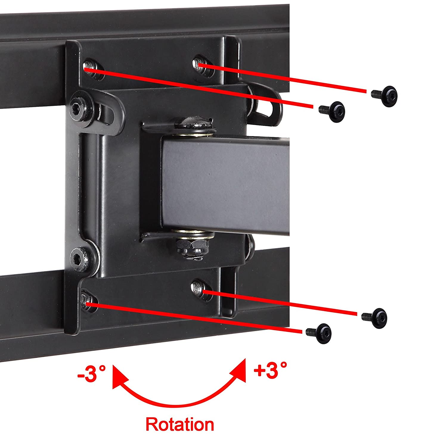 """Mounting Dream MD2380 TV Wall Mount Bracket with Full Motion Articulating Arm (16"""" Extension) for most of 26-55 Inches LED, LCD and Plasma TVs up to VESA 400x400mm and 99 lbs, with Tilt, Swivel, and Rotation Adjustment, Including 6 ft HDMI Cable and Magnetic Bubble Level (For Samsung, Sony, Tos"""