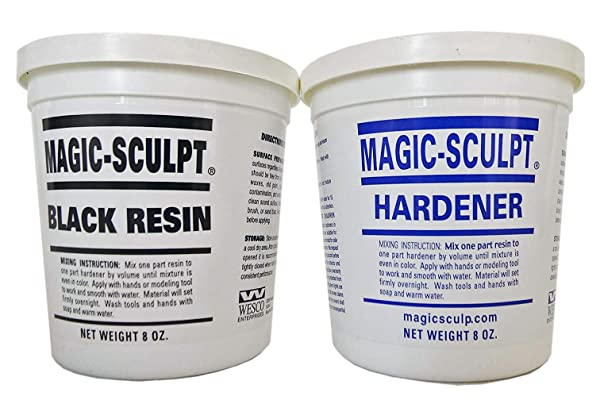 Magic Sculpt 1 lb Black Epoxy Clay (Color: Black, Tamaño: 1 POUND)