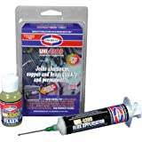 Uniweld P4KD9S Aluminum Soft Solder Kit with Metal Tip Flux Applicator (Tamaño: 1-(Pack))