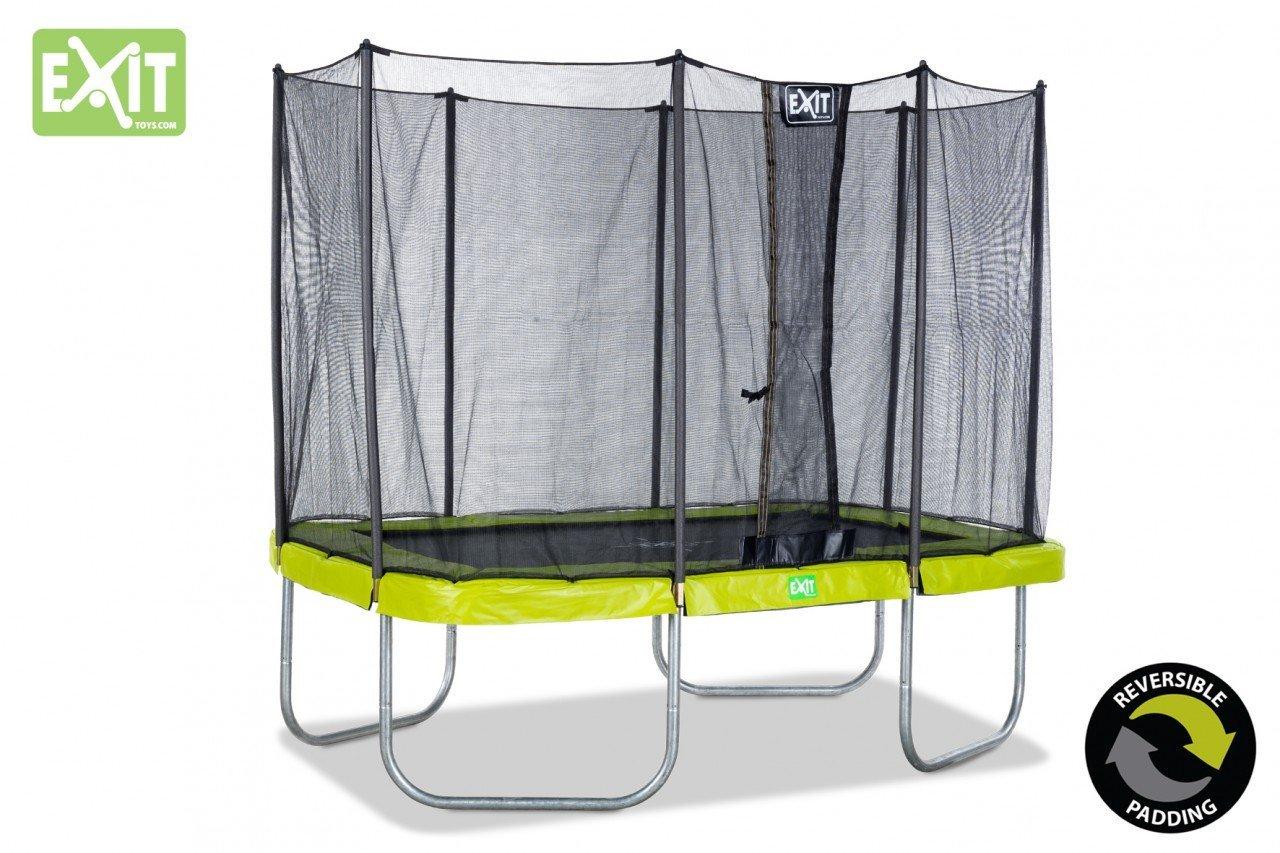 EXIT Twist Trampolin grün/grau 214 x 305 cm / rechteckiges Trampolin mit Sicherheitsnetz / Gewicht: 91 kg / max. Belastbarkeit: 120 kg günstig bestellen
