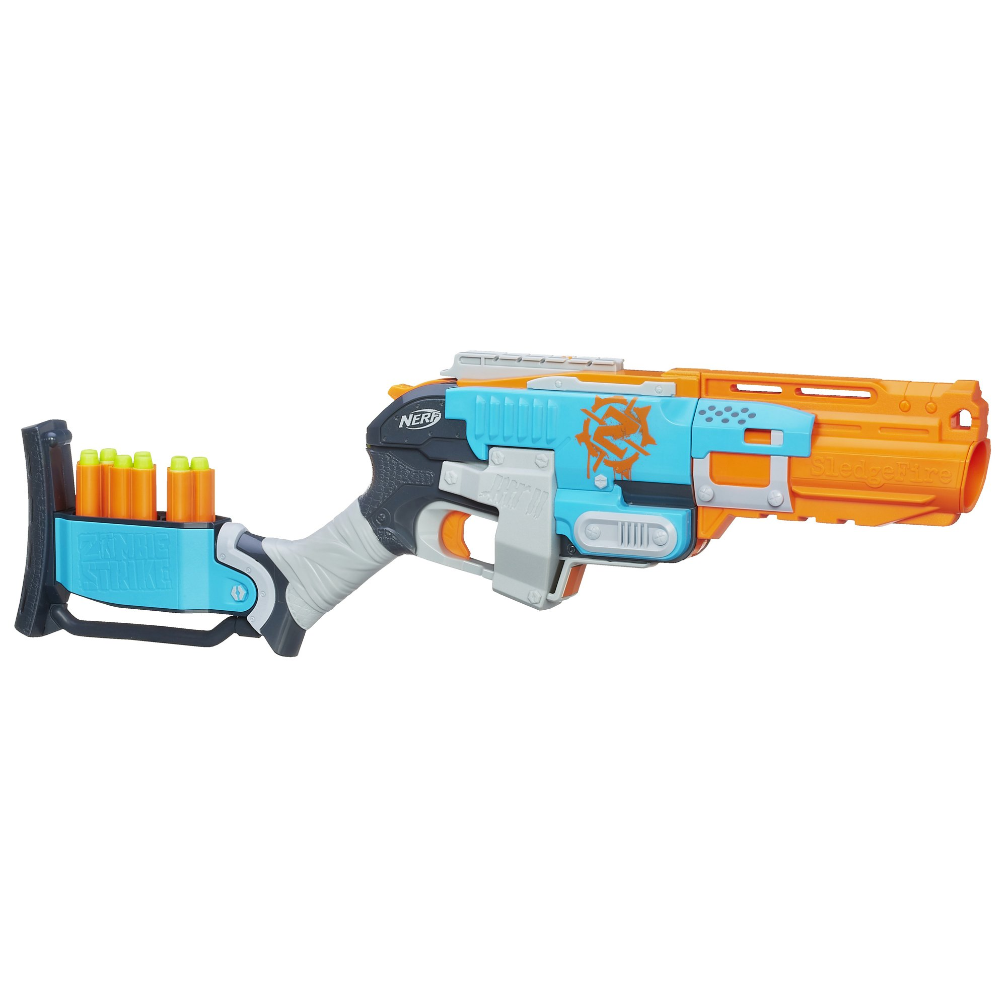 Nerf Zombie Strike Sledgefire Blaster Kids Weapon Toy Gun ...