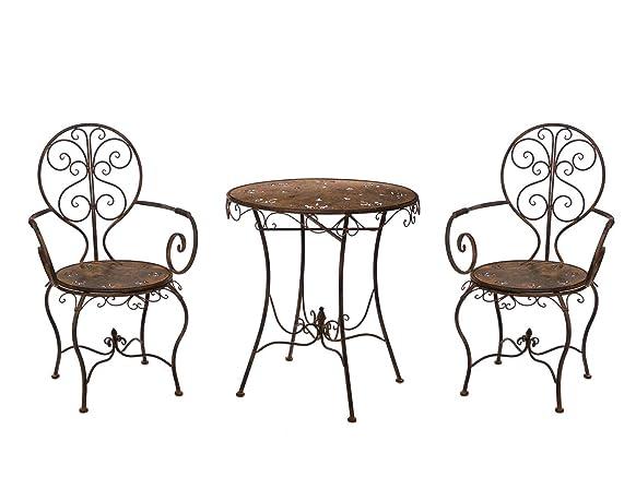 Guarnizione ferrosi mobili in metallo mobili da giardino marrone stile antico
