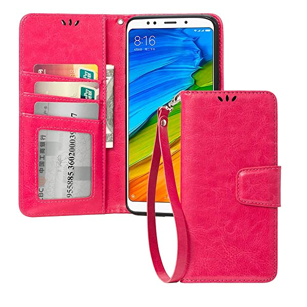 7b02ff20e3f Booklet Wallet Case Cover For Xiaomi Redmi Note 5 (Redmi 5 Plus) with  pockets for cards ...