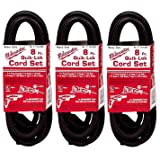 Milwaukee 48-76-4008 Quik-Lok 8-Foot 3 Wire Grounded Cord, 3 Pack