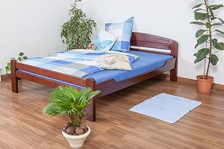 """Lit double """"Easy Sleep®"""" K5, 160x200 cm en hêtre massif laqué en brun foncé"""