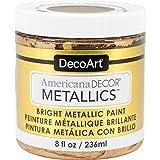 DecoArt Ameri Deco MTLC Americana Decor Metallics 8oz 24K Gold (Color: 24K Gold, Tamaño: 1)