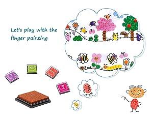 Stamp Ink Pads, Veesoo 40PCS Craft Ink Pad Stamps Partner DIY Color Washable Fingerprint Ink Pad Rubber Stamp Scrapbook Card Handcraft DIY, 20 Colors