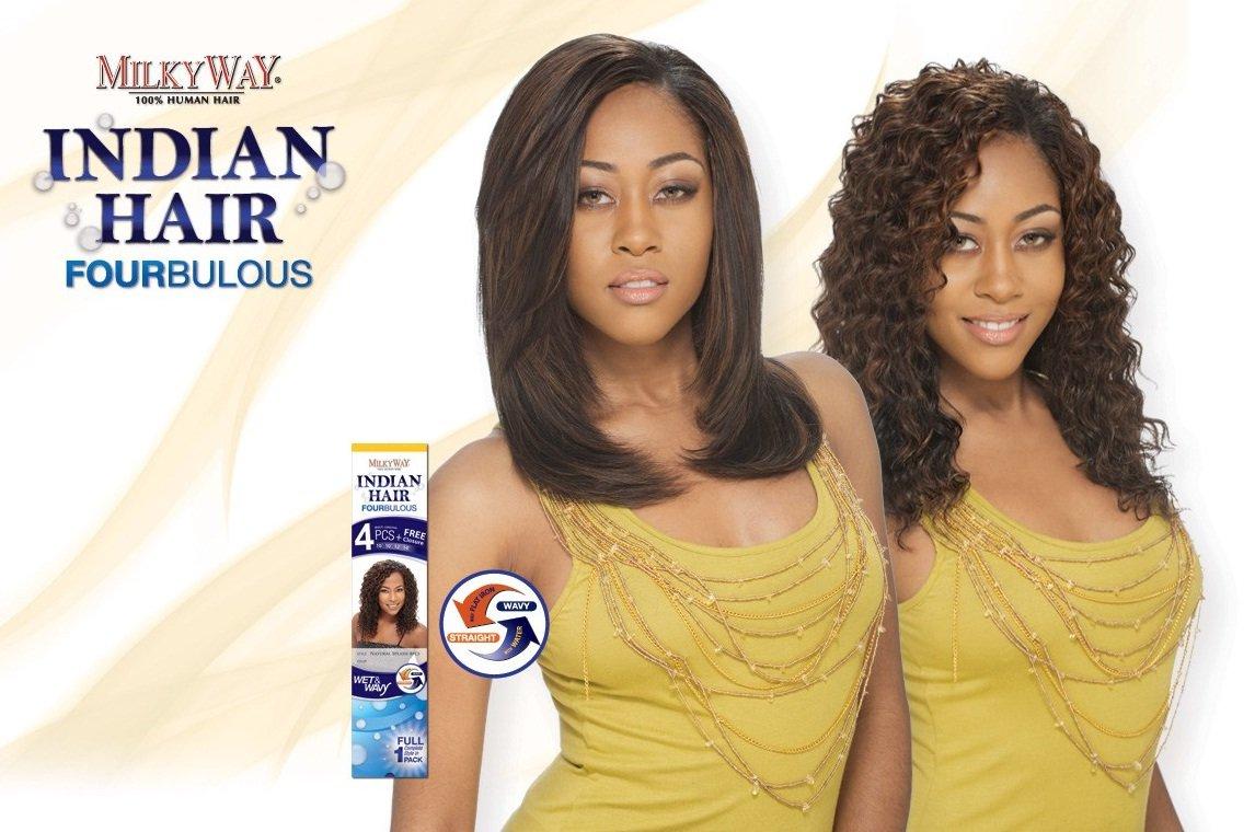 MILKY WAY Fourbulous 100% Human Hair Weave - INDIAN LOOSE DEEP 4 PCS (Wet & Wavy)