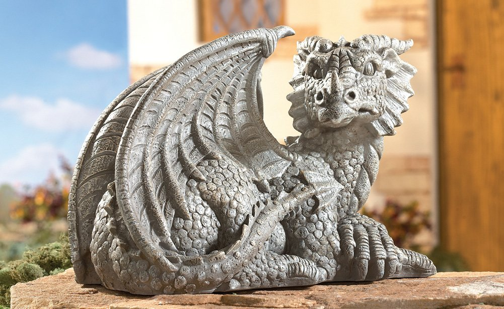 Elegant Mythical Dragon Sculpture Garden Art