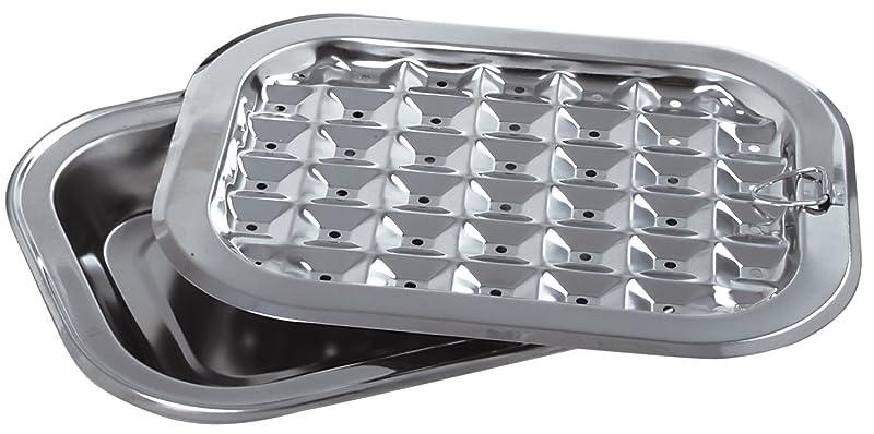 Norpro Stainless Steel Broil / Roast Pan Set via Amazon